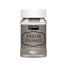 Farby-laky - Dekor enamel, 100 ml, dekoračný smalt, (vintage hnedá) - 9571742_