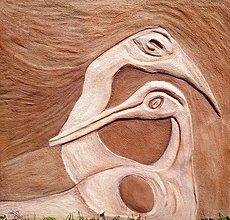 Obrazy - Vtáčia rodinka - 9573861_