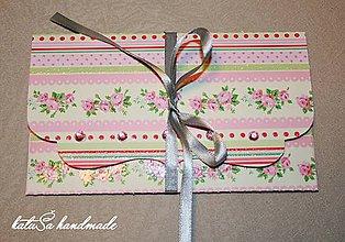 Papiernictvo - darčeková pohľadnica (Pestrofarebná) - 9571852_