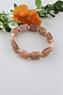 Náramky - luxusný náramok slnečný kameň - 9573890_
