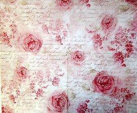 Papier - Ryžový papier 50x50 cm ruže - 9573871_