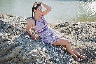 Šaty - Levanduľový set - 9573084_