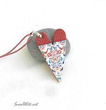 Náhrdelníky - Srdce s ornamentom - 9572346_