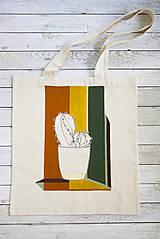 Nákupné tašky - Ručne maľovaná taška Kaktus - 9573452_