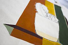 Nákupné tašky - Ručne maľovaná taška Kaktus - 9573453_