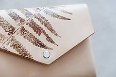 Peňaženky - Kožená peňaženka BOTANIC (reálna papraď) - 9572285_