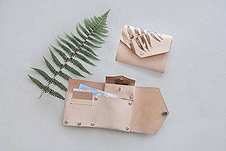 Peňaženky - Kožená peňaženka BOTANIC (reálna papraď) - 9572283_