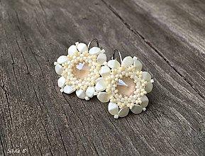 Náušnice - Maslové kvetinkové náušnice - 9572772_