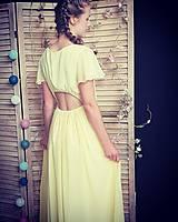Šaty - Šifónové šaty s volánovými rukávmi rôzne farby - 9573513_