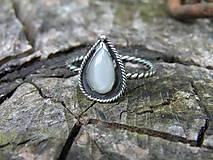 Prstene - Strieborny prsteň Ag 925 Mesačný kameň - 9572604_