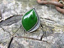 Prstene - Strieborny prsteň Ag 925 Nefrit - 9572941_