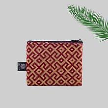 Peňaženky - Zero waste peňaženka na zips brokátová bordeaux VINITHA 13 - 9571179_