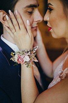 """Náramky - Kvetinový náramok """"len s tebou..."""" - 9573677_"""