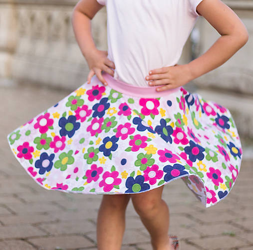 f32b0227dc15 Točivá sukňa detská Colorful flowers   lemge - SAShE.sk - Handmade ...