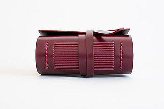 Papiernictvo - Ručne viazaný kožený zápisník Marieta - 9571210_