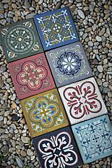 Pomôcky - Staré marocké drevené dlaždice - 9571547_