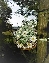 Dekorácie - svadobná kytica: s margarétkami - 9576138_
