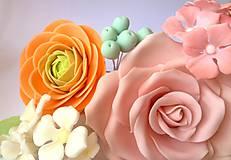 Drobnosti - Kolekcia cukrových kvetov na tortu - 9574041_