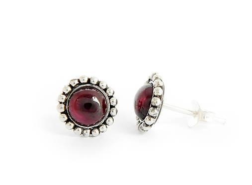 e9a922cab 925 Strieborné náušnice s prírodným granátom / soamijewelry - SAShE ...