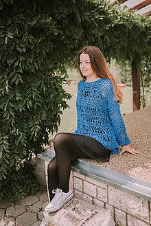 Svetre/Pulóvre - Romantický top-100% bavlna (Bordová) - 9574737_