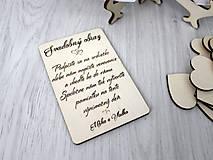 - Svadobný rám so srdiečkami - veľký (Drevený návod) - 9576415_