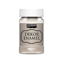 Farby-laky - Dekor enamel, 100 ml, dekoračný smalt, (cappuccino) - 9574662_
