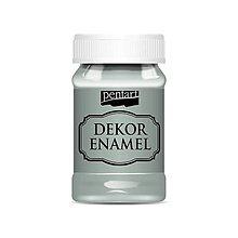 Farby-laky - Dekor enamel, 100 ml, dekoračný smalt, (olivovozelená) - 9575170_