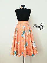 Sukne - YWETTE: modré kvietky - taká moja nová sukňa - 9574981_