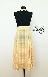 Sukne - YWETTE: žlté kocky z retro sukne - 9574988_