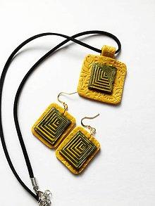 Sady šperkov - žltozelená kombinácia - 9574671_