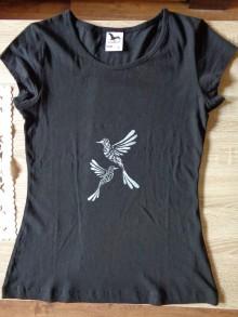 Tričká - Tričko a taška - vtáčiky - 9576197_