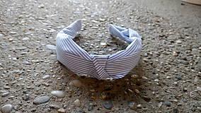 Ozdoby do vlasov - Látkové čelenky (Bledo modrá) - 9574557_