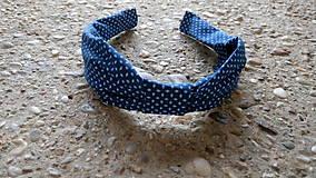 Ozdoby do vlasov - Látkové čelenky (Modrotlač) - 9574578_