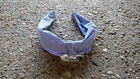 Ozdoby do vlasov - Látkové čelenky (Tmavo modrá) - 9574581_