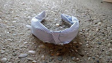 Ozdoby do vlasov - Látkové čelenky (Bledo modrá) - 9574568_