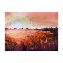 Obrazy - Zapad slnka nad polom - 9574598_