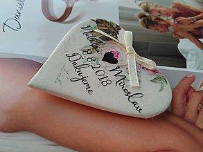 Darčeky pre svadobčanov - vintage magnetky so srdiečkom - 9575202_