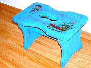 Nábytok - Drevený stolček - 9574287_