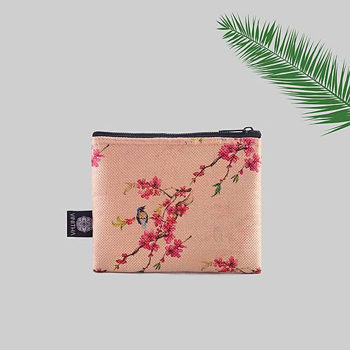 Peňaženky - Peňaženka na zips brokátová s vtáčikmi VINITHA 36 - 9574653_
