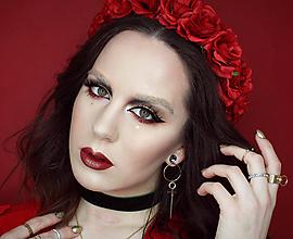 Ozdoby do vlasov - Venček z červených ruži - 9576455_