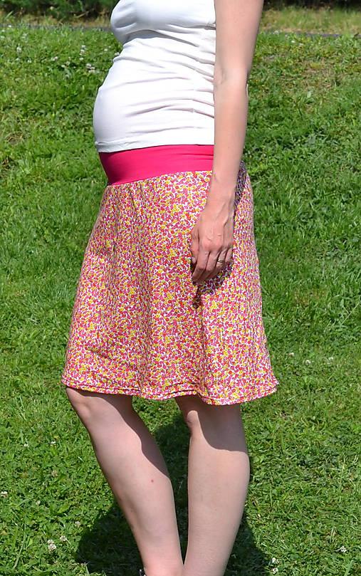 d716ae47e86 Těhotenská sukně - květy   SHARAforall - SAShE.sk - Handmade Sukne