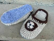 - papuče MACO-podšité filcovou  podrážkou - 9575382_