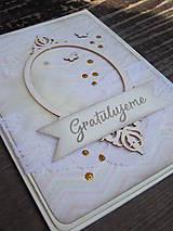 Papiernictvo - ...pohľadnica gratulačná v rámčeku... - 9576296_
