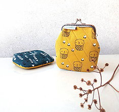 Peňaženky - Peňaženka Sovy v kvietkoch - M - 9574433_