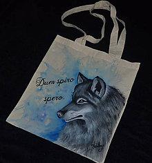 Nákupné tašky - ručne maľovaná taška - vlk - 9576078_