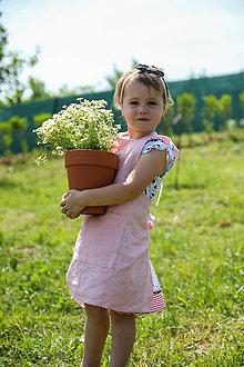 Detské oblečenie - Detská ľanová zásterka - 9575793_