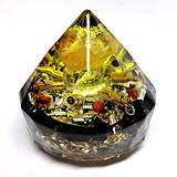 Dekorácie - Diamant - Jantar + Citrín + Šungit * Léčí tělo i Duši - 9577520_