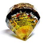Dekorácie - Diamant - Jantar + Citrín + Šungit * Léčí tělo i Duši - 9577526_