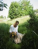 Dekorácie - Lúčna kytica so slnečnicami - 9576835_