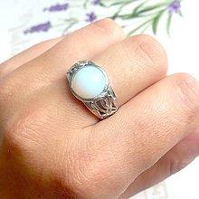 Prstene - Antique Opalite Ring / Starostrieborný prsteň s opalitom - 9577130_